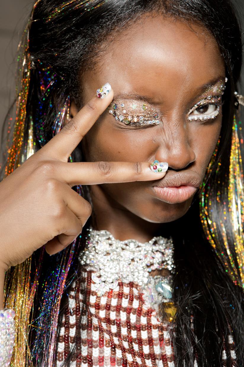 Nail art french manicure particolare