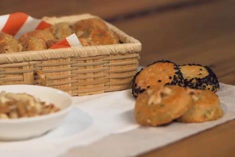 Biscottini salati al roquefort