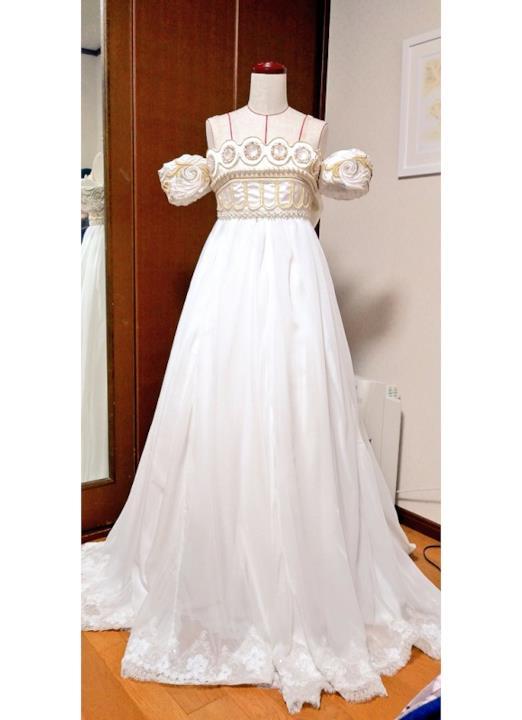 Il vestito da sposa ispirato alla Principessa Serenity di Sailor Moon