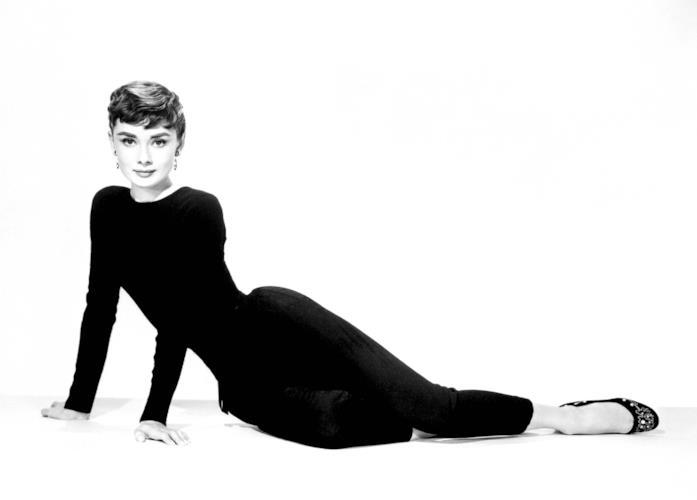 Audrey Hepburn in leggings