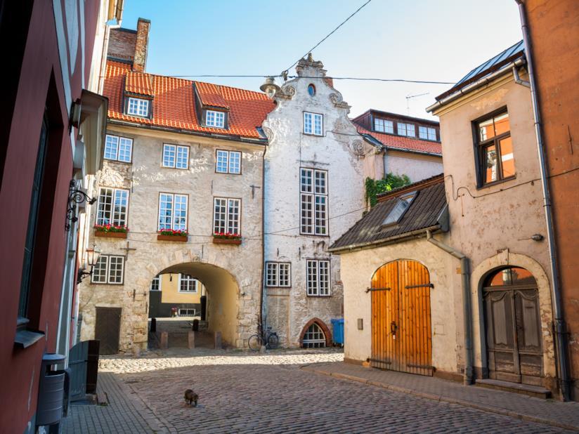 Scorcio della Città Vecchia di Riga
