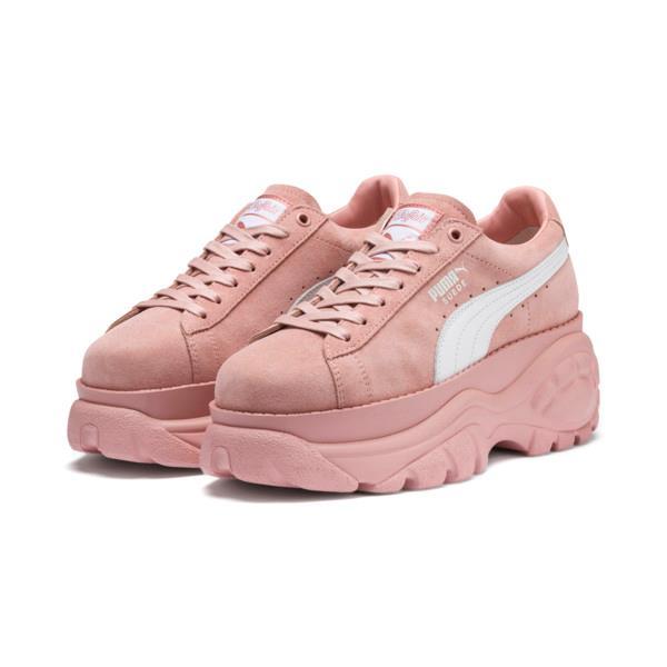 Sneakers PUMA x BUFFALO in pelle scamosciata color rosa pastello
