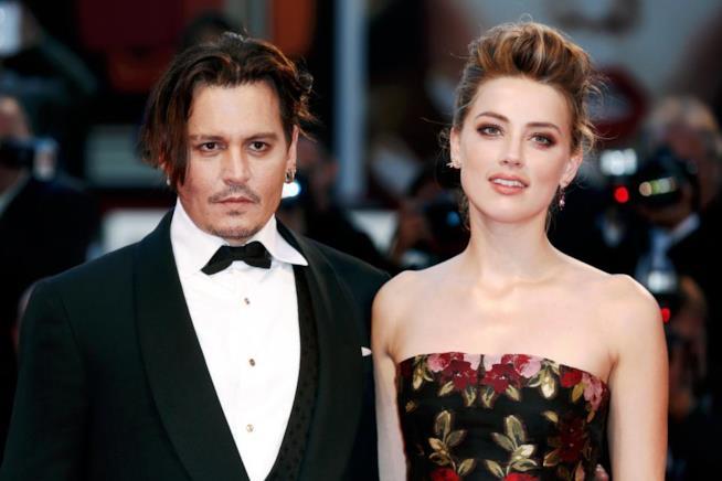 Johnny Depp ai tempi del matrimonio con Amber Heard