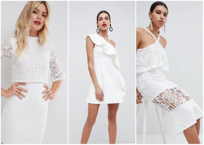 Collage di abiti bianchi Asos
