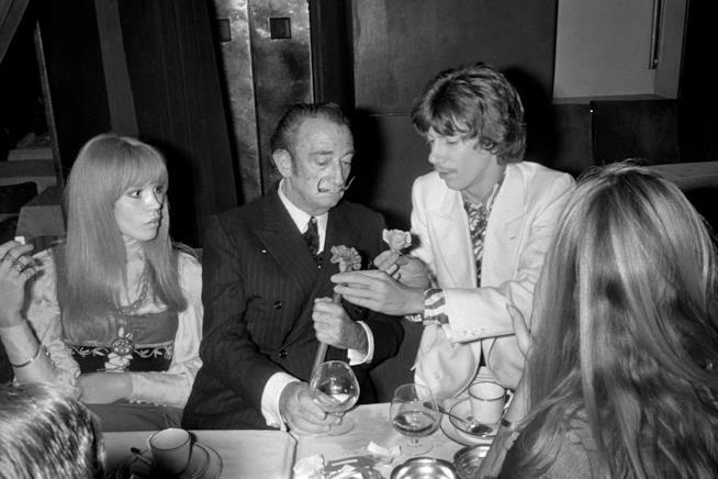 Amanda Lear con Salvador Dalì
