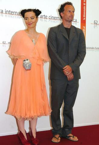 La cantante Bjork e Matthew Barney