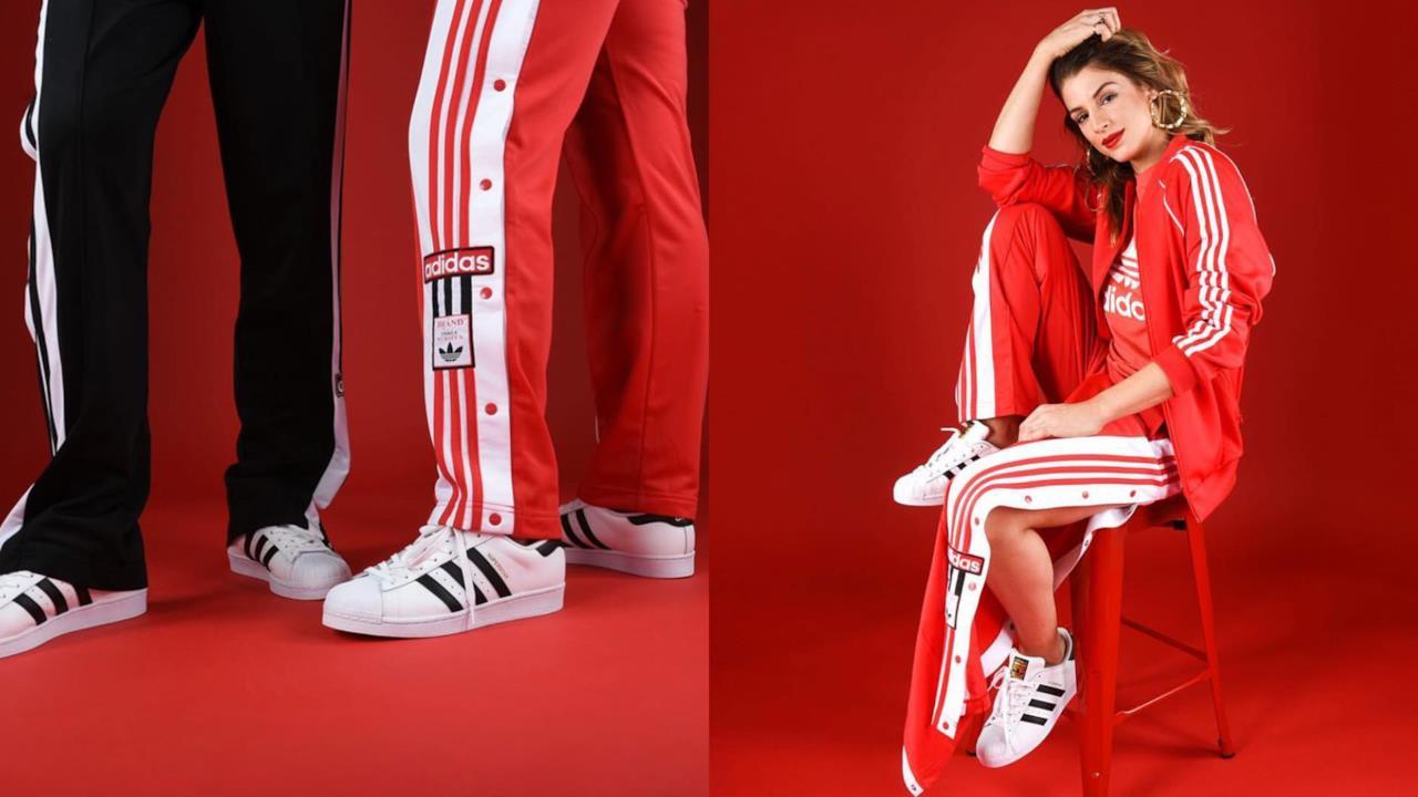 pantaloni tuta adidas rossi donna