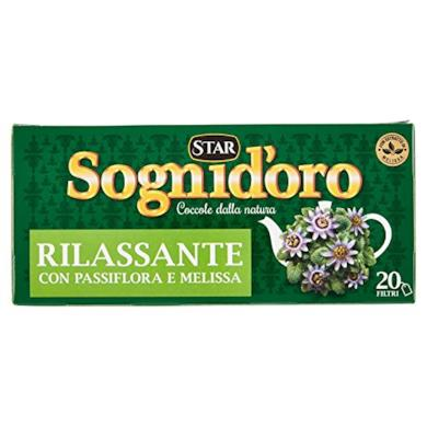 Sogni d'Oro Tisana Rilassante con Passiflora, Camomilla, Melissa e Biancospino