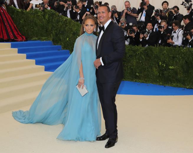 Jennifer Lopez e Alex Rodriguez al MET Gala