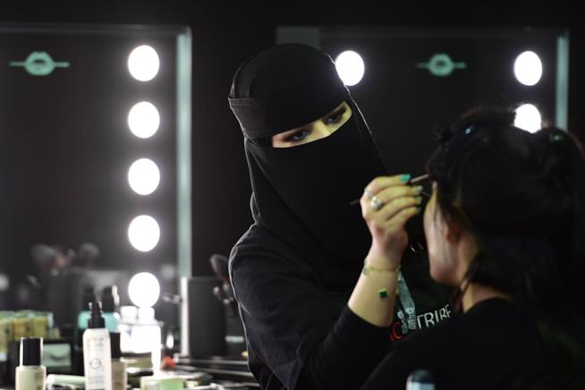 Backstage arab fashion week
