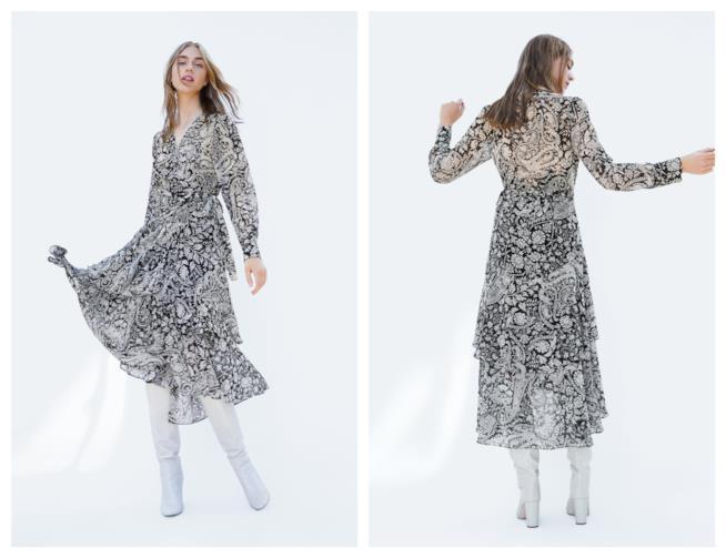 In bianco e nero il vestito di tendenza per l'autunno 2018