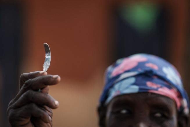 Una lama usata per effettuare le MGF