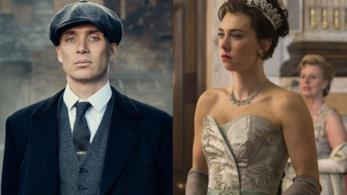 Due immagini tratte da Peaky Blinders e da The Crown