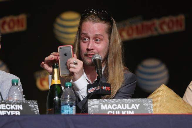L'attore Macaulay Culkin fotografato a un evento nel 2015