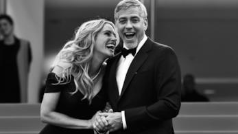 Una foto di George Clooney e Julia Roberts