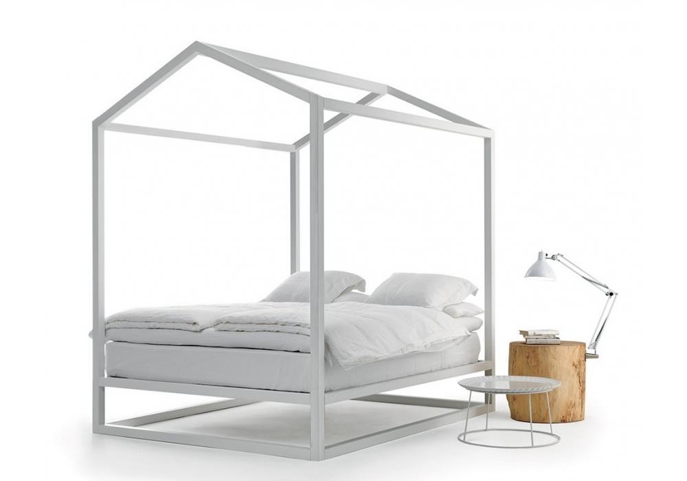 Perch scegliere il letto a centro stanza scenografico e - Letto a baldacchino ikea ...