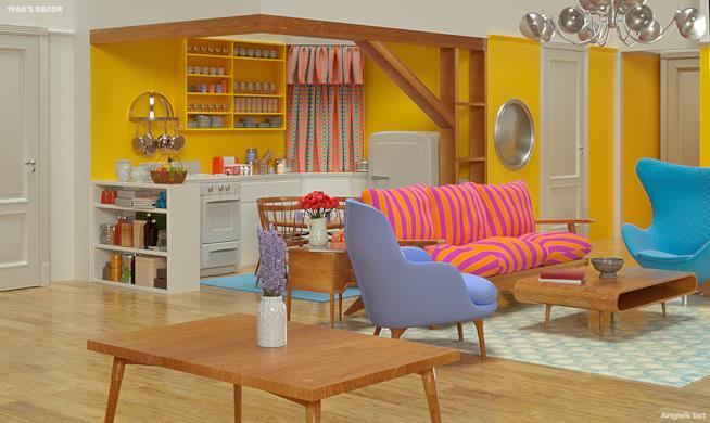 Appartamento di Monica anni Sessanta