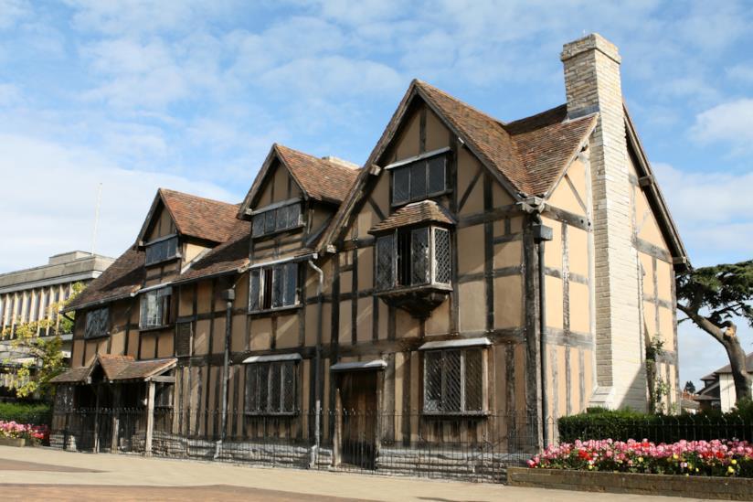 Vista della casa di Shakespeare