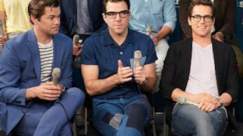 Andrew Rannels, Matt Bomer e Zachary Quinto