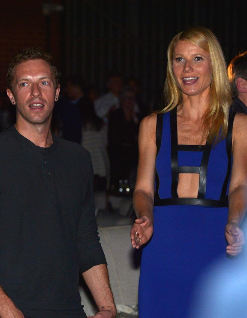 Gwyneth Paltrow e Chris Martin in primo piano