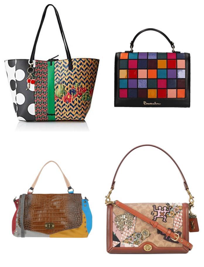 8d36620255 Amazon Fashion In stile patchwork, le borse di tendenza per l'estate e  autunno 2018