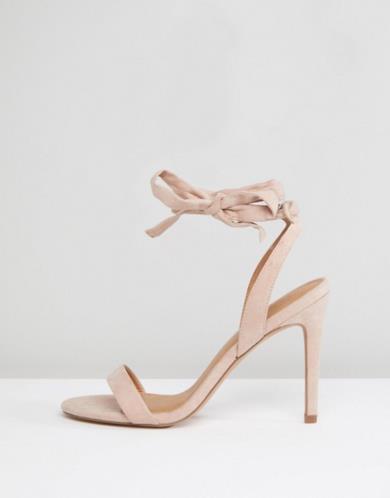 Sandali con tacco effetto nudo