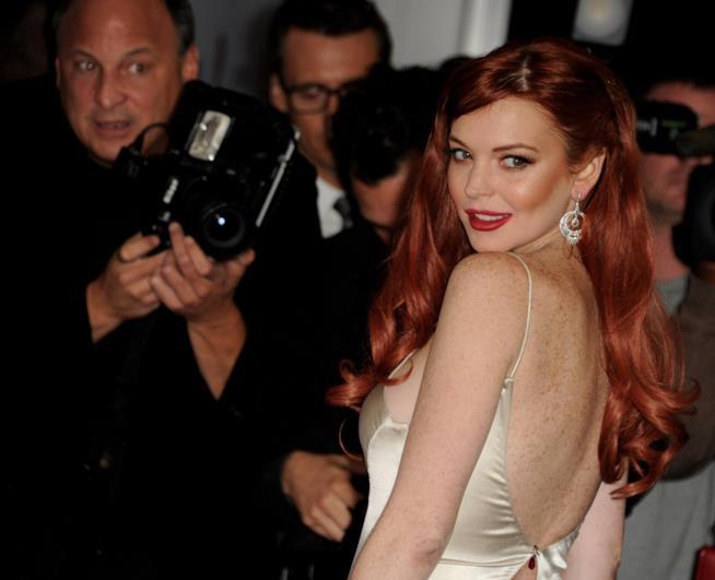 Un vecchio scatto di Lindsay Lohan
