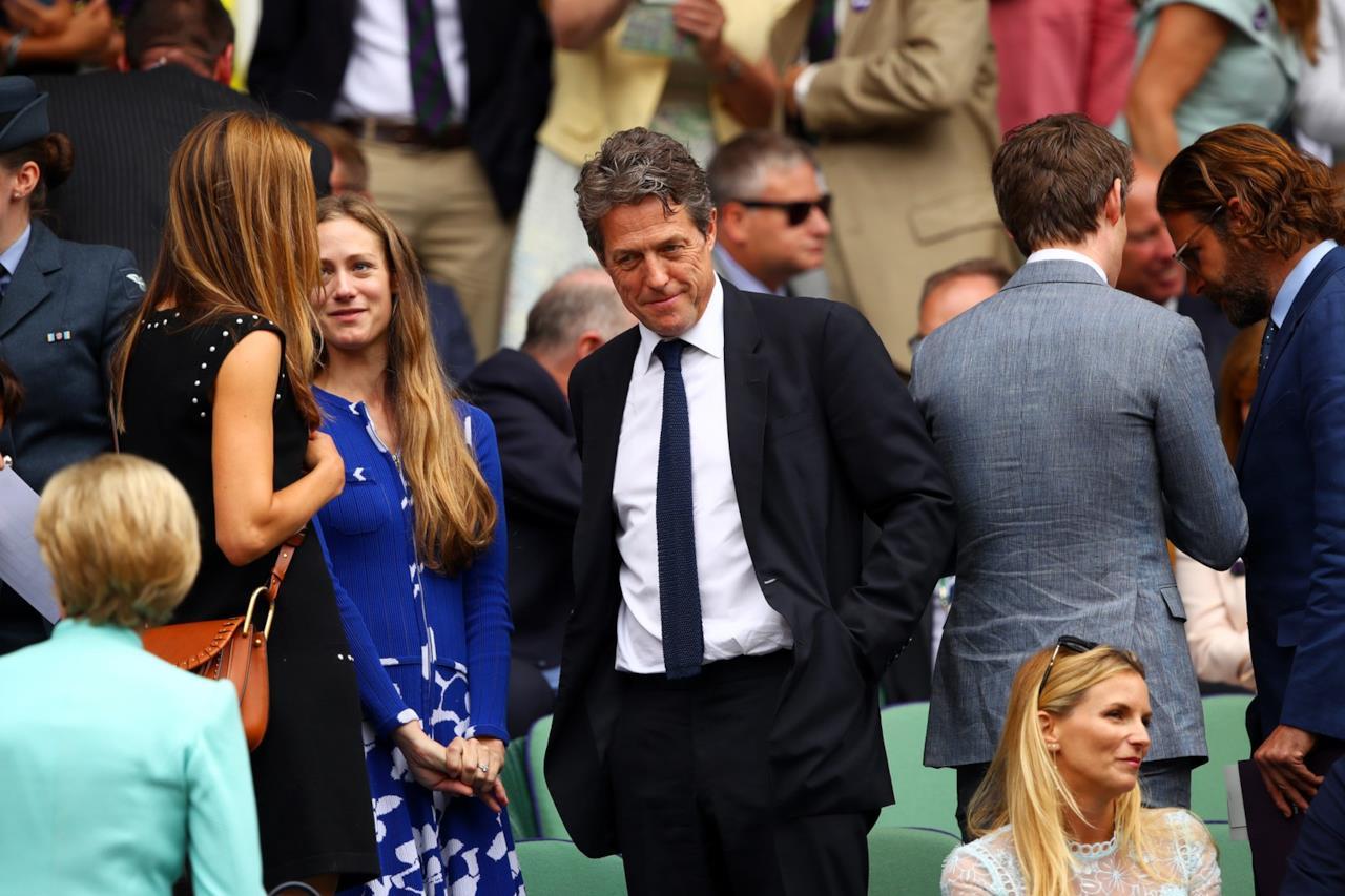 Hugh Grant a Wimbledon 2017