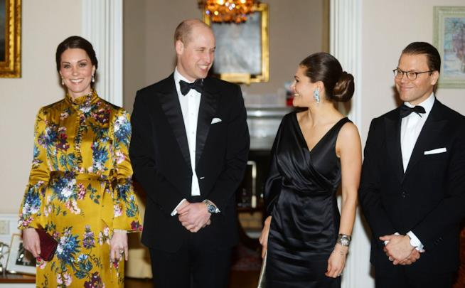 Kate Middleton, William, Victoria di Svezia e Daniel, suo marito