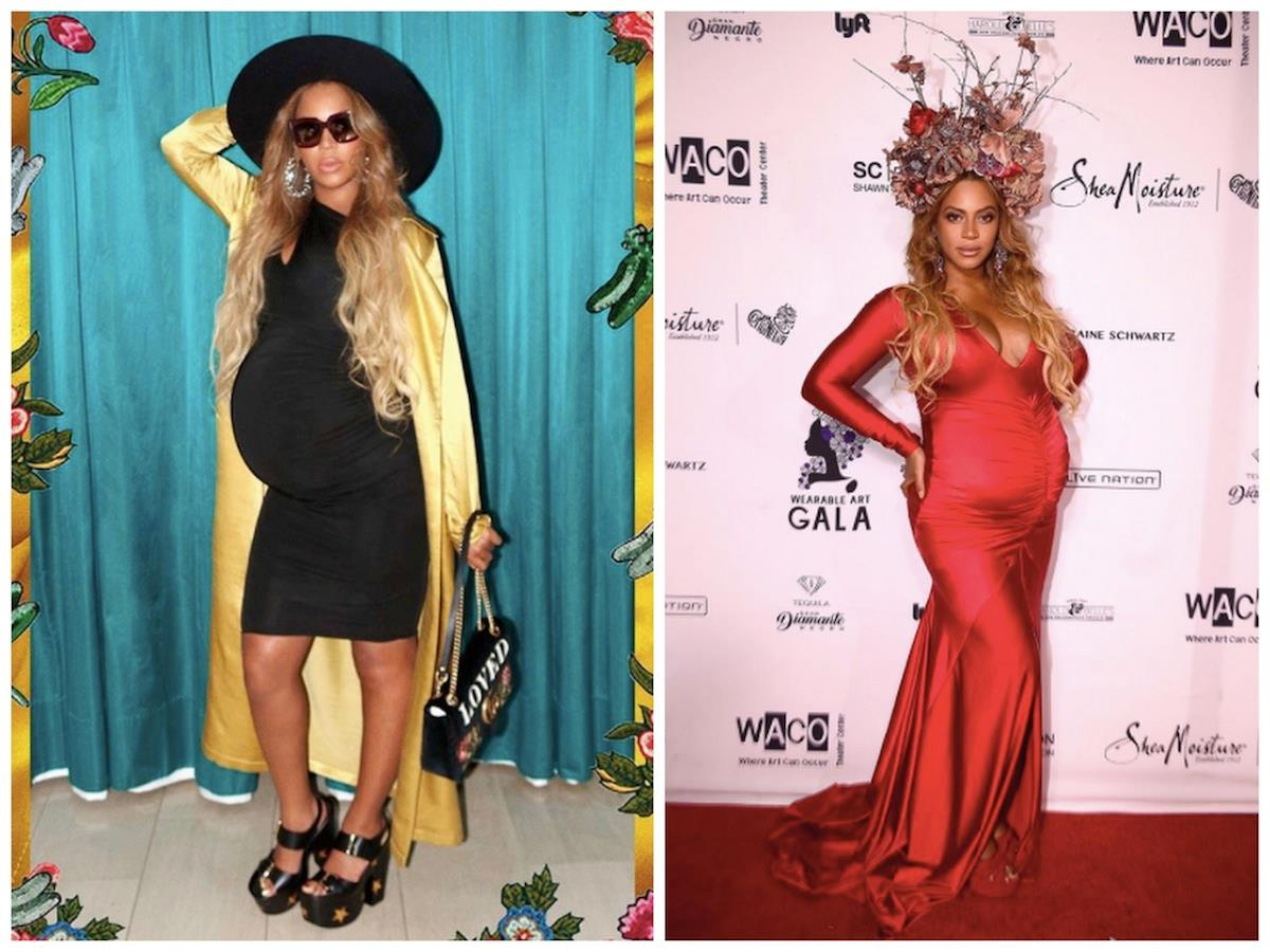 ad14589e0726 La cantante ha scelto di affrontare con uno stile assolutamente personale e  lussureggiante entrambe le sue gravidanze