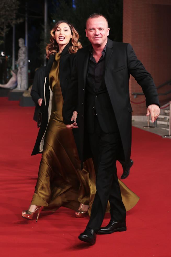 Anna Tatangelo e Gigi D'Alessio a braccetto al Festival del Cinema di Roma