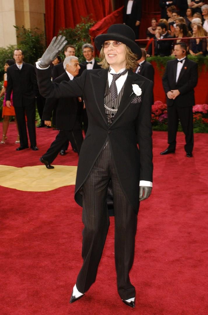 Diane Keaton in completo da uomo