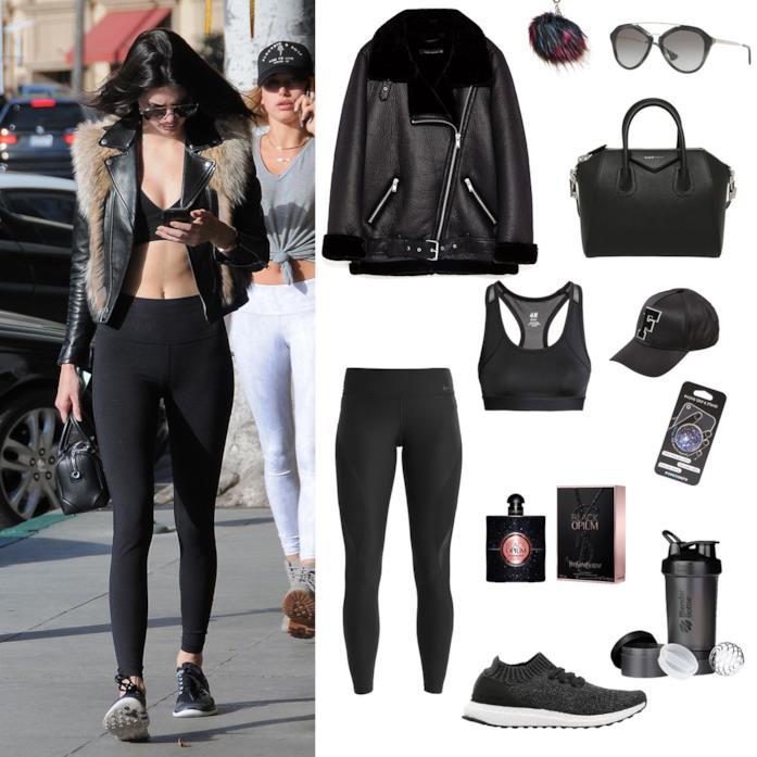 Abbigliamento palestra come Kendall Jenner