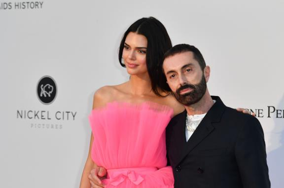 Kendall Jenner e Giambattista Valli all'evento