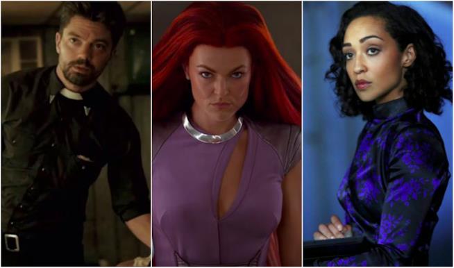 Un collage di attori apparsi sia in serie Marvel che DC