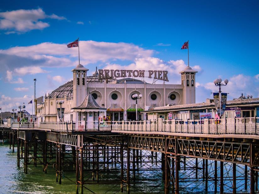 Il Palace Pier di Brighton, sul lungomare della città