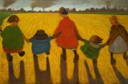 15. Carlo Erba Le trottole del sobborgo che vanno, 1915 olio su tela, cm 108x178 Collezione privata