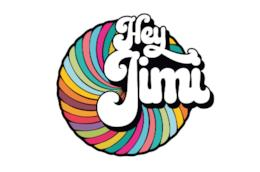 Il logo colorato di Hey Jimi - The Italian Experience, 1968