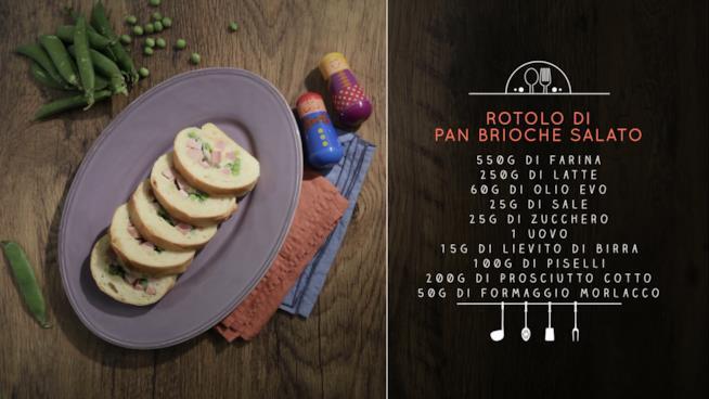 Rotolo di pan brioche salato
