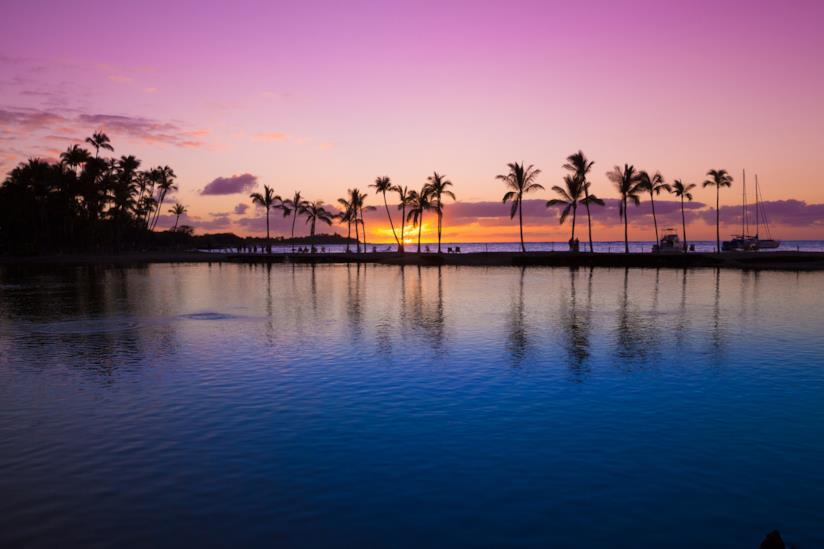 Le Hawaii al tramonto