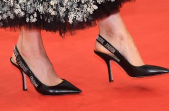 Slingback Dior indossate sul tappeto rosso
