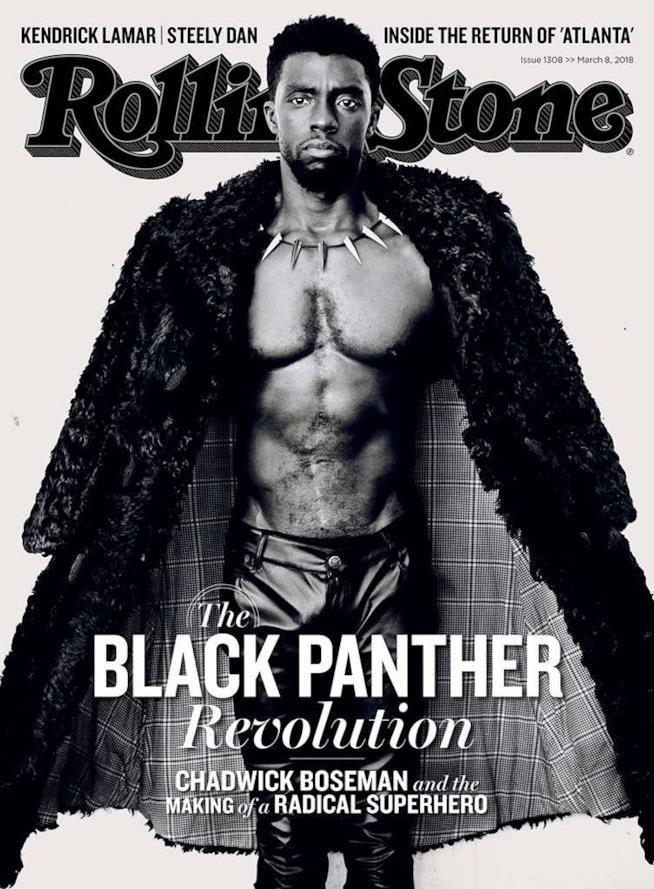 Chadwick Boseman sulla copertina di Rolling Stone