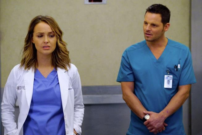 Camilla Luddington e Justin Chambers in Grey's Anatomy 13
