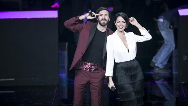 I presentatori Andrea Delogu e Nicolò De Devitiis