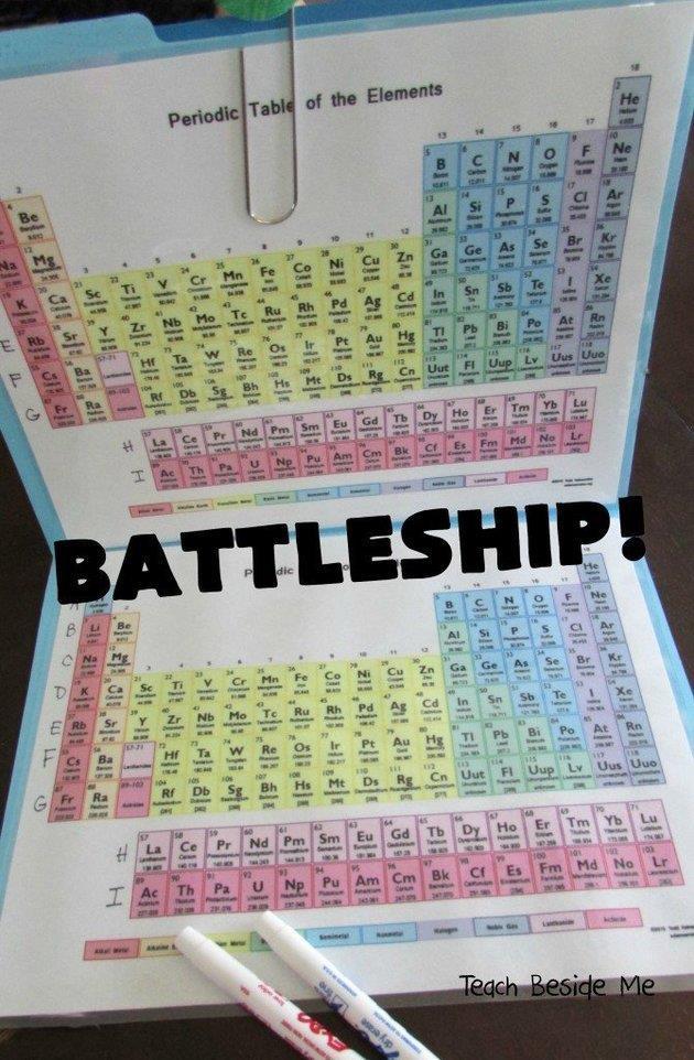 La tavola periodica di Karyn Tripp per giocare a battaglia navale