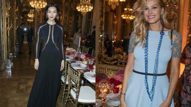 Petra Nemcova e Liu Wen all'evento Chopard alla Paris Fashion Week