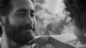 Un fermoimmagine di Jake Gyllenhaal che sorride ad una bambina nella pubblicità di Calvin Klein