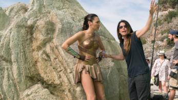 Patty Jenkins sul set di Wonder Woman