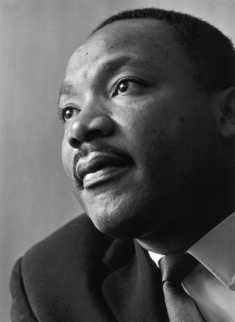 Martin Luther King in primo piano