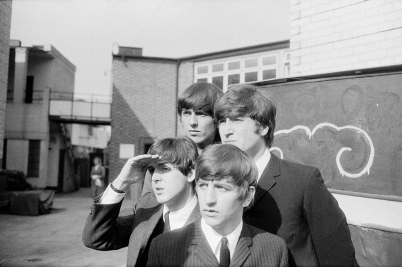Uno scatto della mostra Astrid Kirchherr With The Beatles